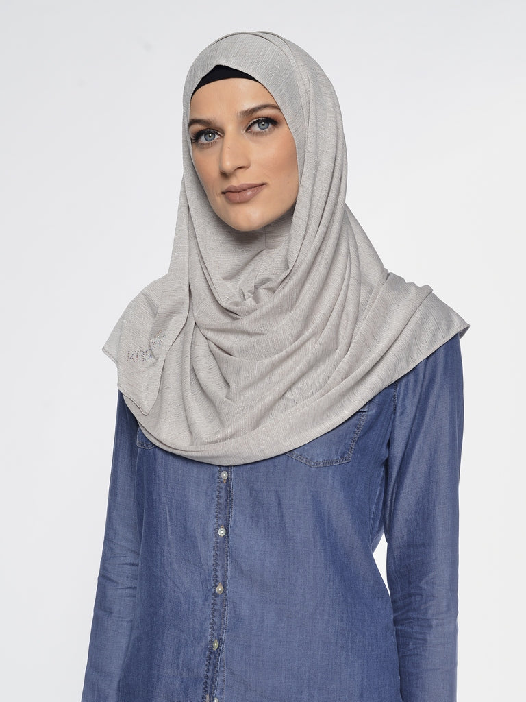 Shining Jersey Instant Hijab
