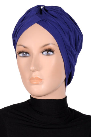 Pleated Plain Turban - Kashkha