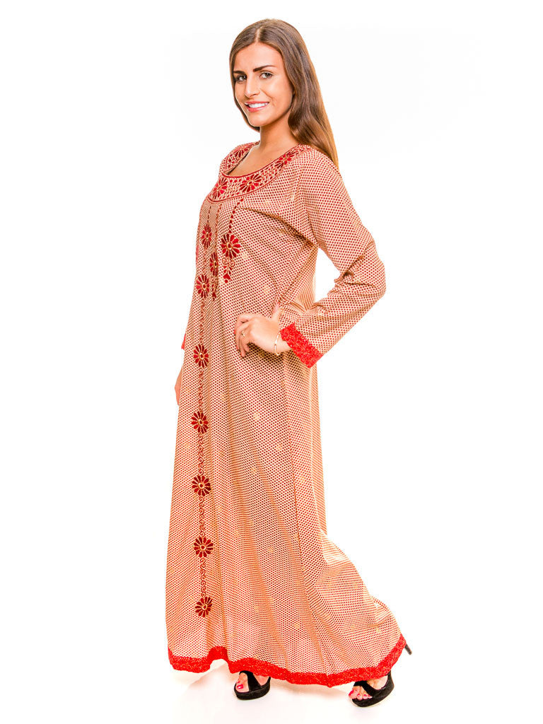 Embroidered Cotton Maxi