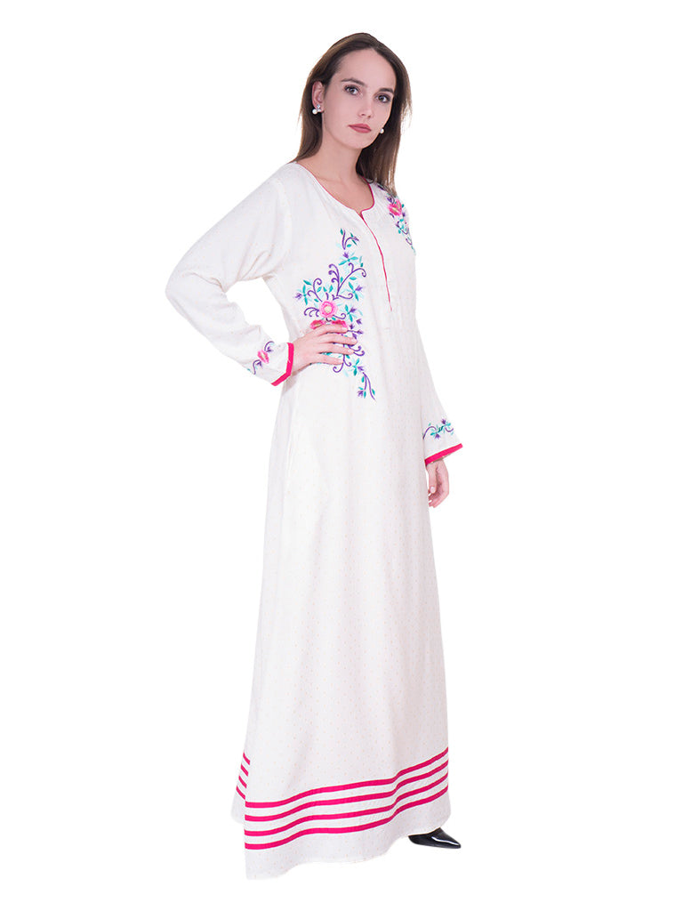 Floral Embroidered Jalabiya