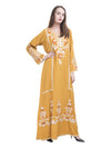 U-Neck Embroiderd Maxi Dress