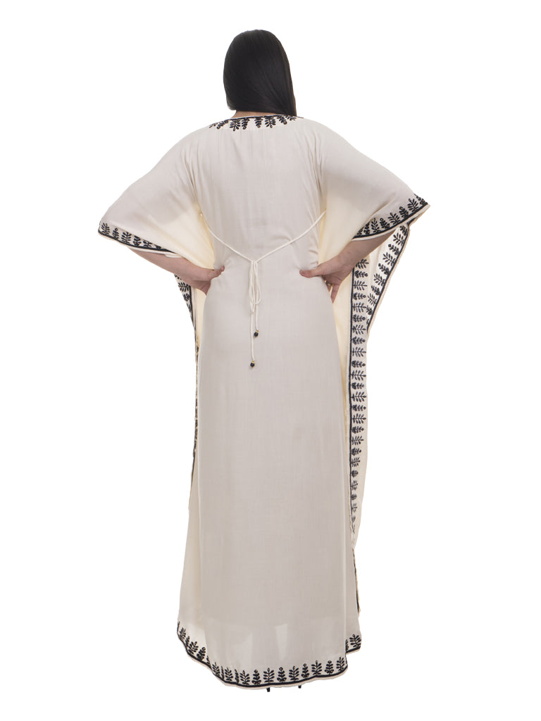 Embroidered Offwhite Kaftan