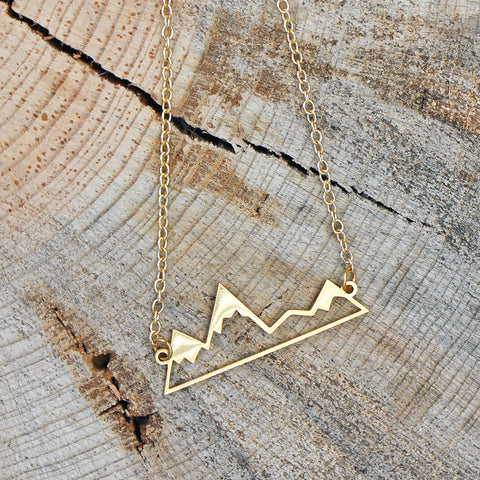 Mountain Outline Necklace