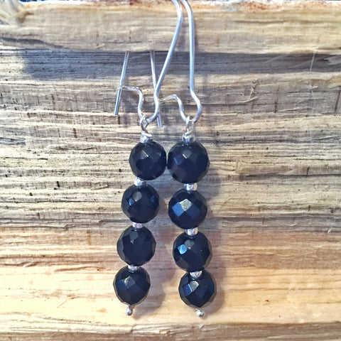 Drop Earrings with Onyx