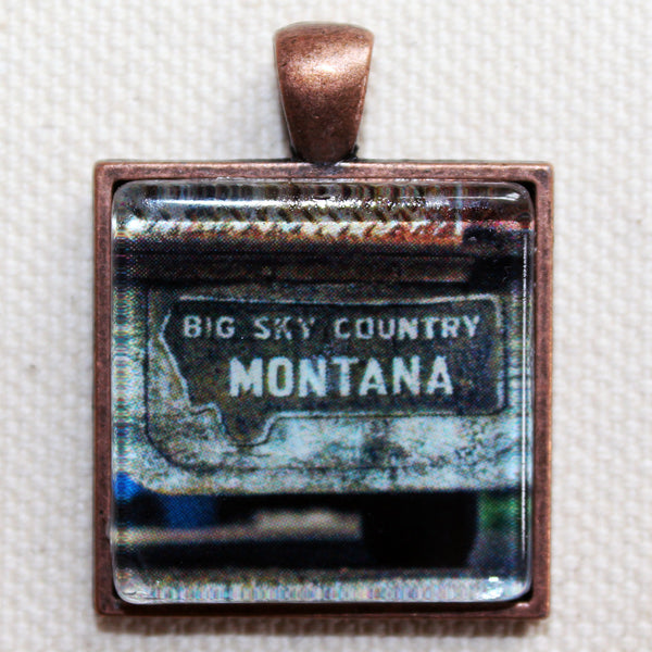 Big Sky Country Montana Mudflap Photo Pendant