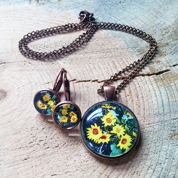 Montana Wildflower Photo Jewelry - Arrowleaf Balsamroot (Sunflower)