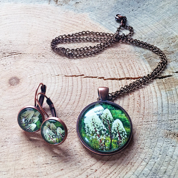 Montana Wildflower Photo Jewelry - Beargrass