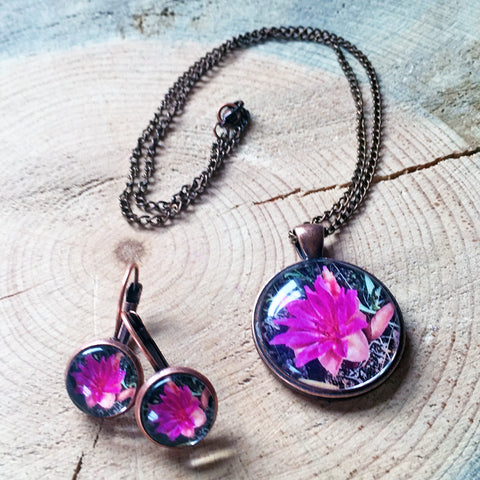 Montana Wildflower Photo Jewelry - Bitterroot