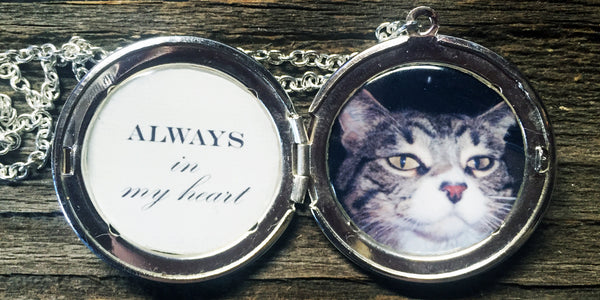 Always in My Heart Custom Photo Locket