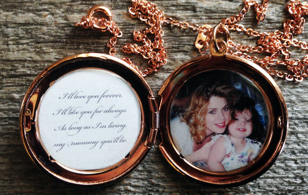 Love You Forever Matching Custom Photo Lockets (2 lockets)