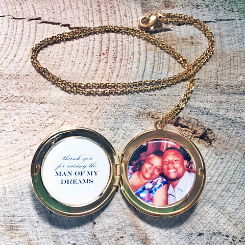 Mother-of-the-Groom Man of My Dreams Custom Photo Locket