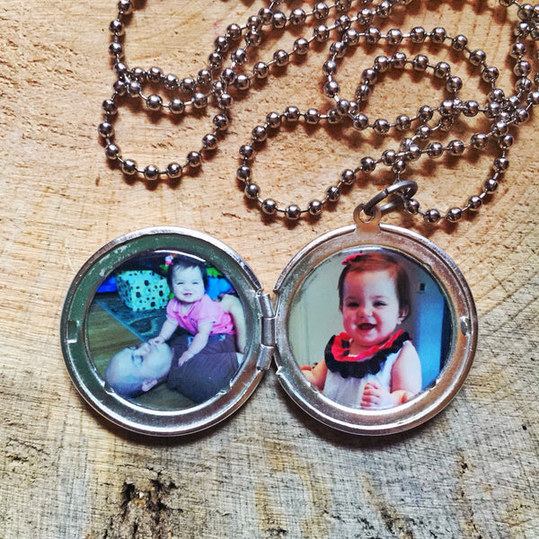 Men's Custom Two Photo Locket