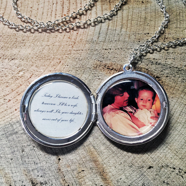 Secret Message Custom Photo Locket