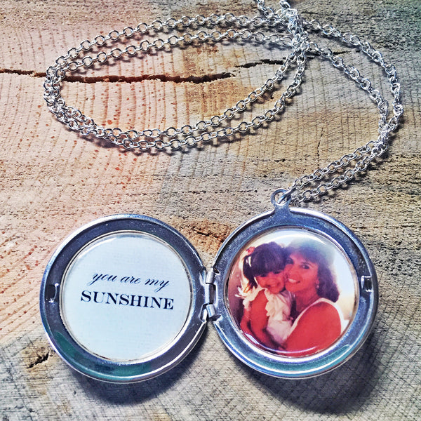 You Are My Sunshine Custom Photo Locket