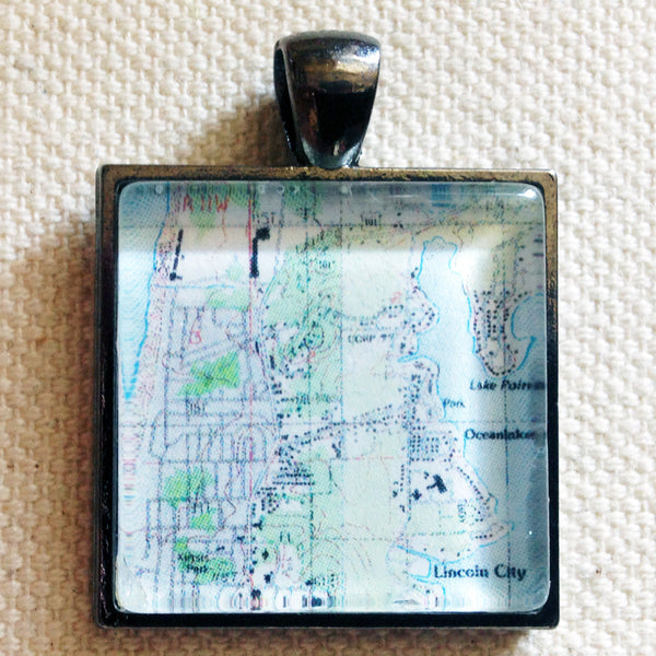 Custom Topographic Map Pendant for Necklaces, Keychains, and Bottle Openers