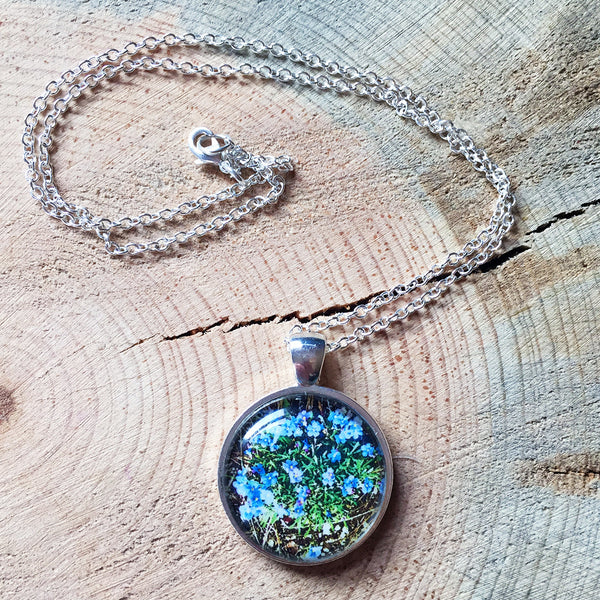 Montana Wildflower Photo Jewelry - Howard's Forget-Me-Not