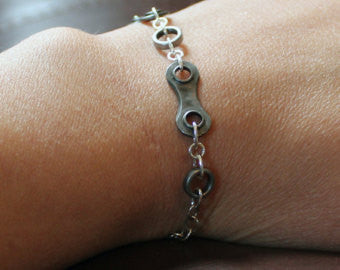 Upcycled Bicycle Chain Bracelet