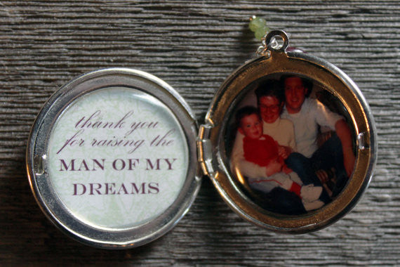 Thank You for Raising the Man of My Dreams Custom Photo Locket