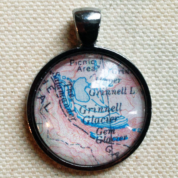 Custom Topographic Map Pendant For Necklaces,...