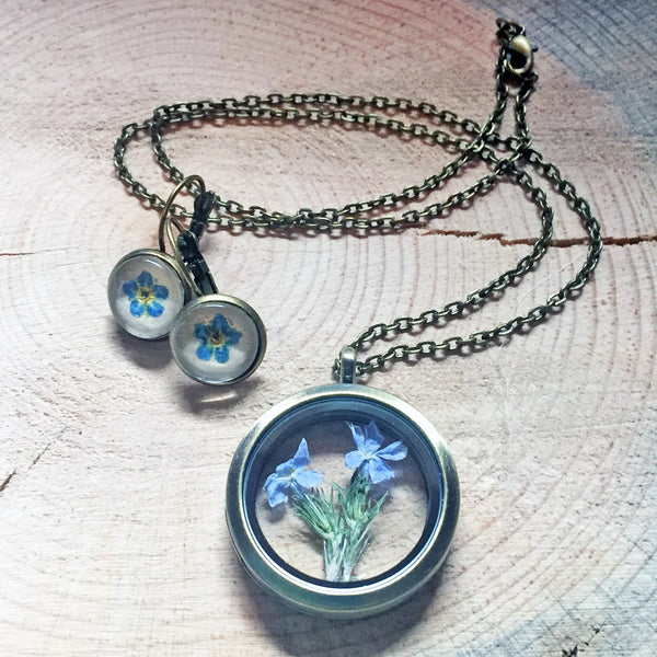 Montana Wildflower Living Lockets