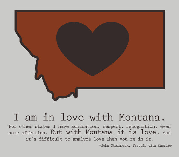 Montana LOVE canvas - 11x14 - framed