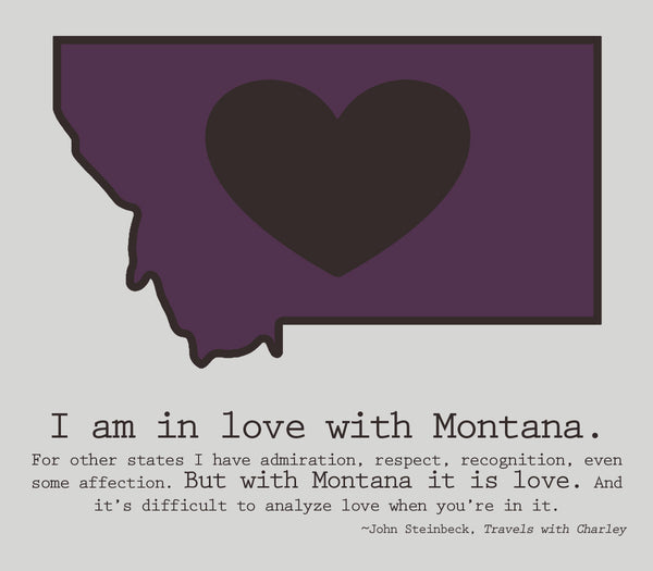 Montana LOVE canvas - 8x10 - framed