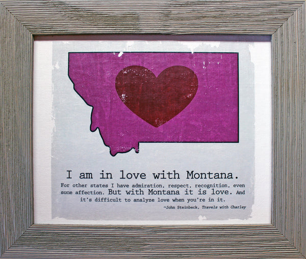 Custom Color Montana LOVE canvas - framed