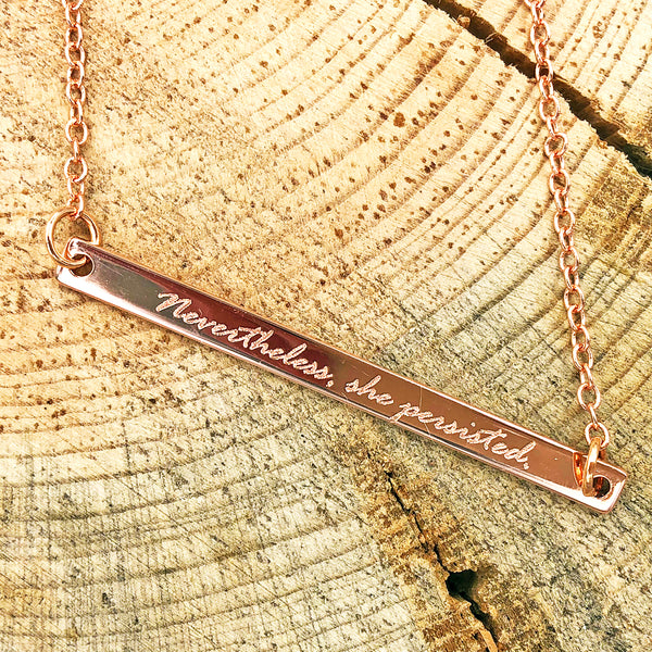 The Future is Female Bar Necklace