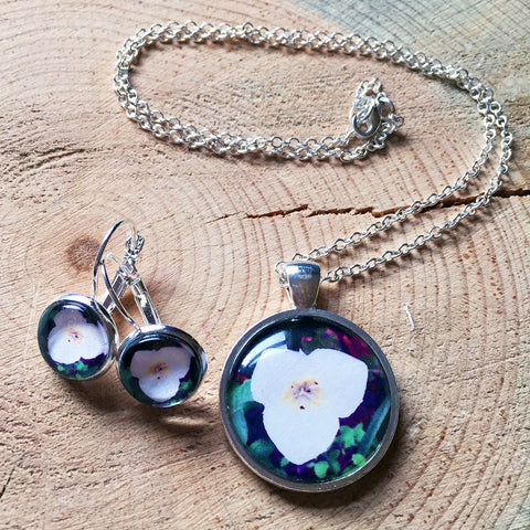 Montana Wildflower Photo Jewelry - Sego Lily