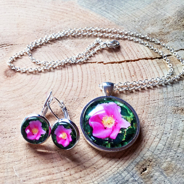 Montana Wildflower Photo Jewelry - Wild Rose