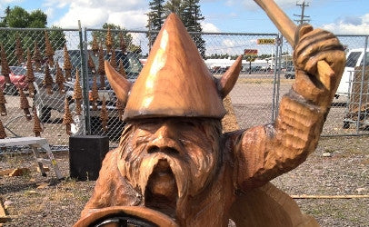 Montana Chainsaw Carver David Westberg Viking warior