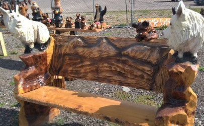 Montana Chainsaw Carver David Westberg Goat Chair