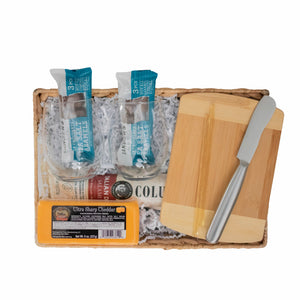 wine & cheese gift bundle
