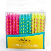 pack of 24 bright candles