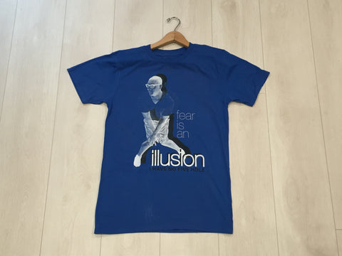"""fear is an illusion, I have no five hole"", T Shirt, Blue"