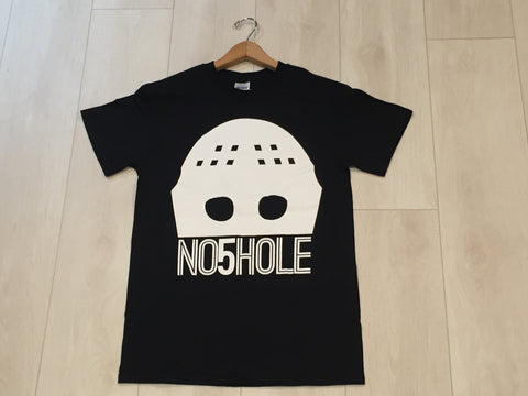 z- NO5HOLE Goalie Mask, T Shirt, Black