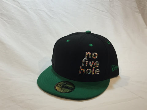 "z- ""no five hole"", Flexfit, Black & Green"
