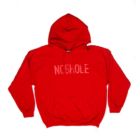 NO5HOLE Game Day Hoodie - Red