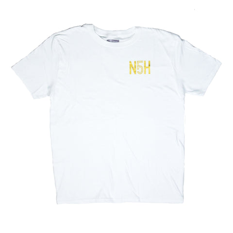 N5H White & Gold T-shirt