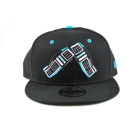 Goalie Pad Cap-Teal & Black- 9FIFTY