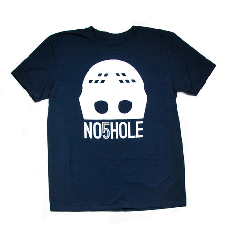 Goalie Mask Tee - Navy & White