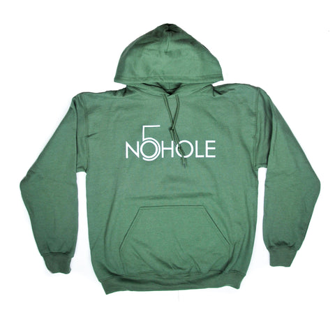 Game Day Hoodie - Army Green & White