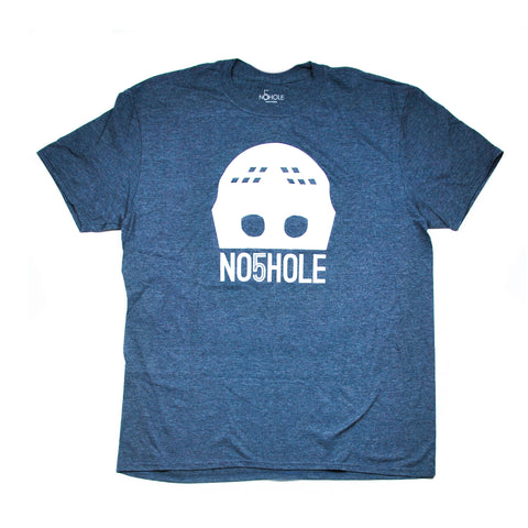 Goalie Mask Tee - Navy Heather