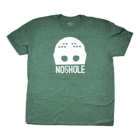 Goalie Mask Tee - Military Heather Green