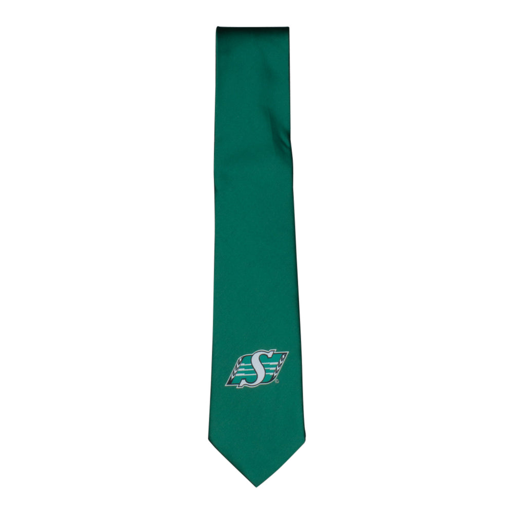 TIE- SHIELD LOGO GREEN