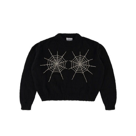 CRYSTAL COBWEB KNIT JUMPER