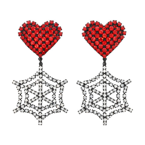 HEART COBWEB EARRINGS
