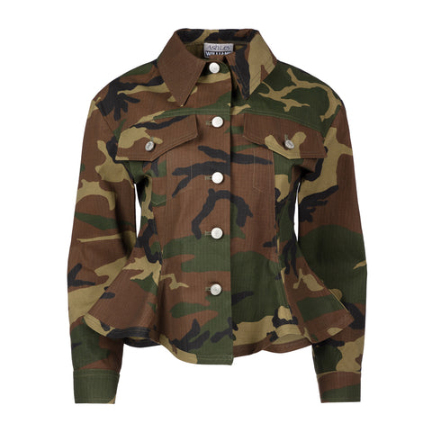 CAMOUFLAGE FITTED JACKET