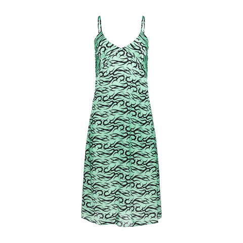 MINT TATTOO SLIP DRESS