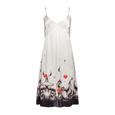 HEART FLAMES SLIP DRESS